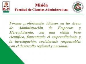Mision Facultad de Ciencias Administrativas