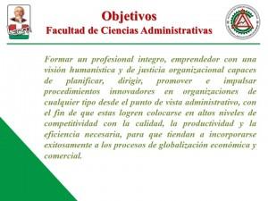 Objetivos de la Facultad de Ciencias Administrativas