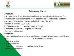 Articulos y Libros 1